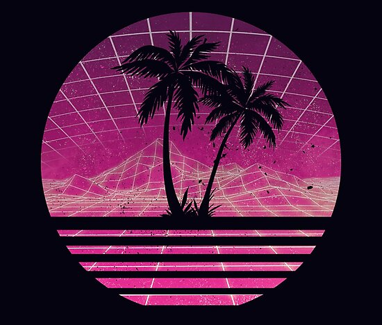 Quot Modern Retro 80s Outrun Sunset Palm Tree Silhouette