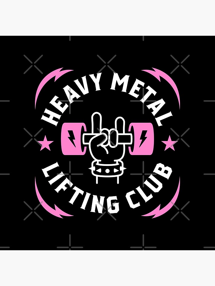 Heavy Metal Lifting Club (Pink) by brogressproject