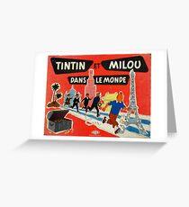 Tintin Board Game / 326852 Greeting Card