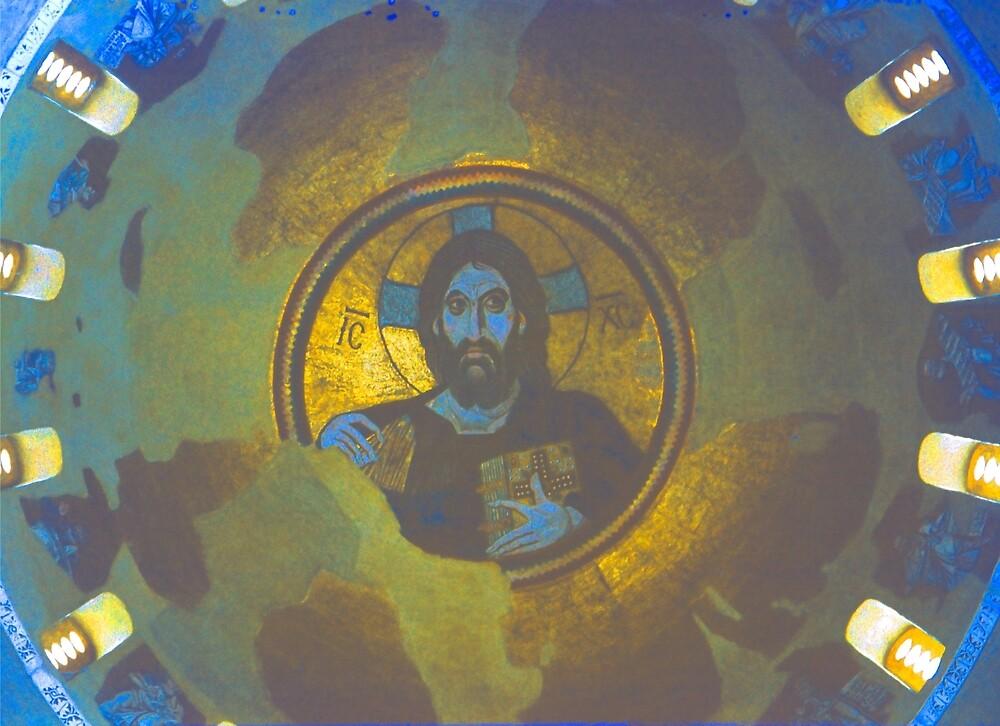 Christ in Majesty, Daphni, Greece 1960 by Priscilla Turner