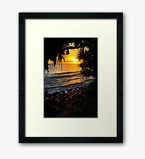 Looking Back Framed Print