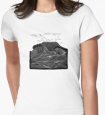 Japan sea and mountain Women's Fitted T-Shirt