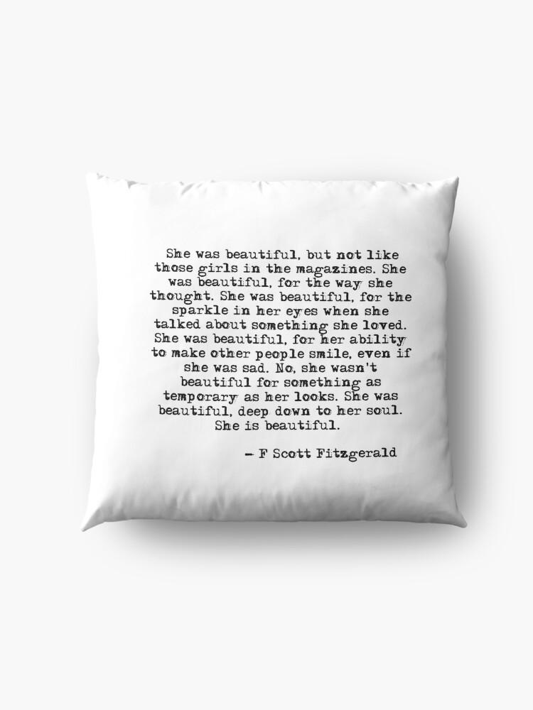 Alternative Ansicht von Sie war wunderschön - F Scott Fitzgerald Bodenkissen