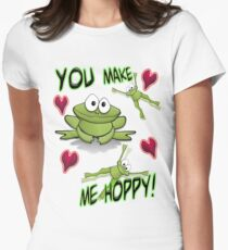 You Make Me Hoppy! Women's Fitted T-Shirt