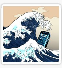 Phone booth vs The Great wave Sticker