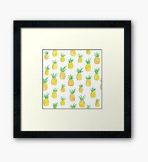 Pineapples are in my head Framed Print