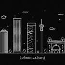 Johannesburg Skyline Minimal Line Art Poster by A Deniz Akerman