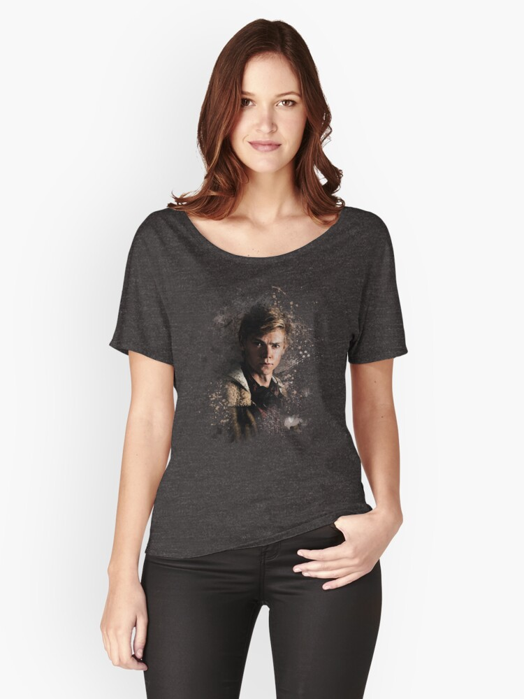 Newt - Maze Runner: Death Cure Painting Design Color Women's Relaxed Fit T-Shirt Front