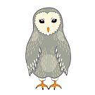 Gray barn owl by Elsbet