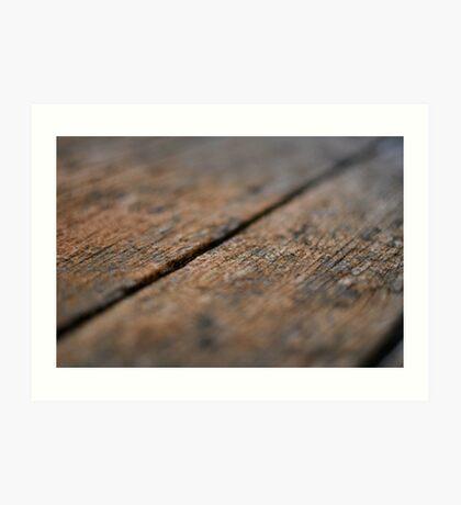 Wooden Boards Art Print