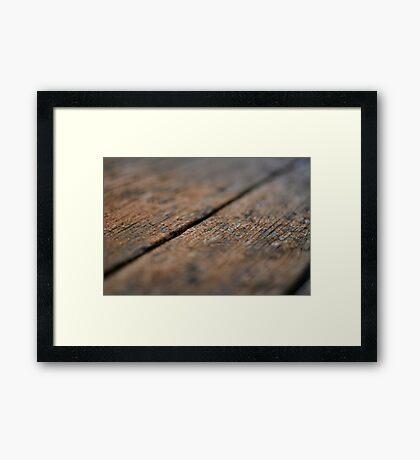 Wooden Boards Framed Print