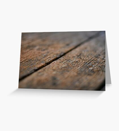 Wooden Boards Greeting Card