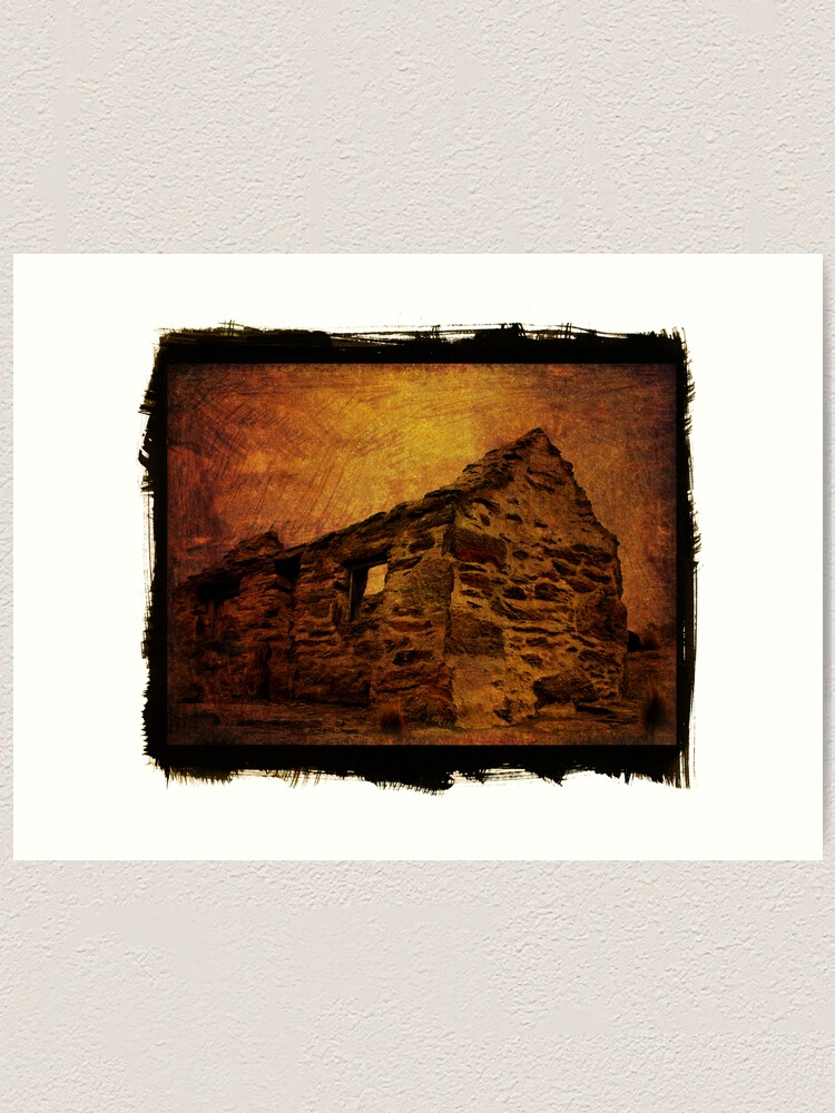 Alternate view of stone house Art Print