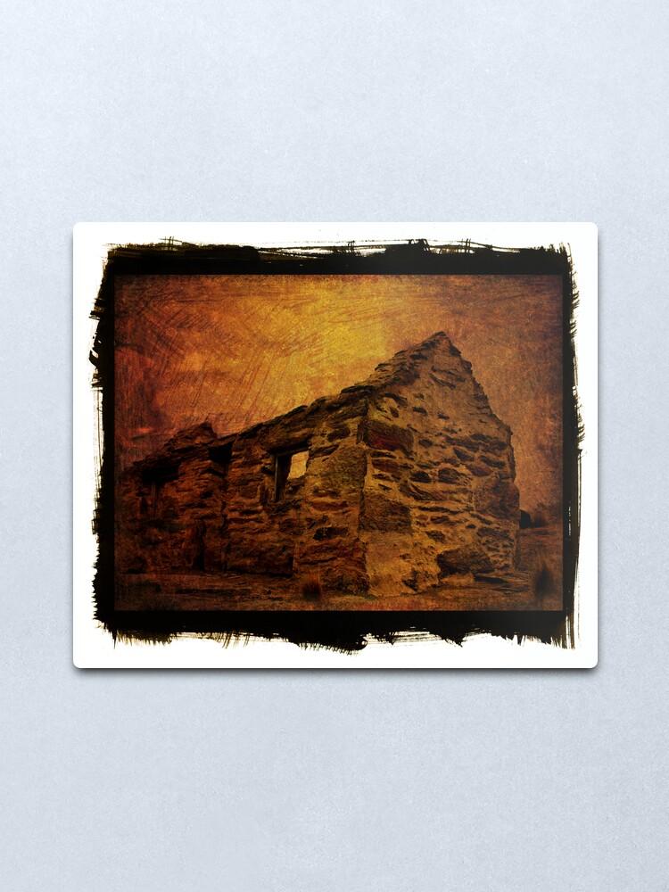 Alternate view of stone house Metal Print