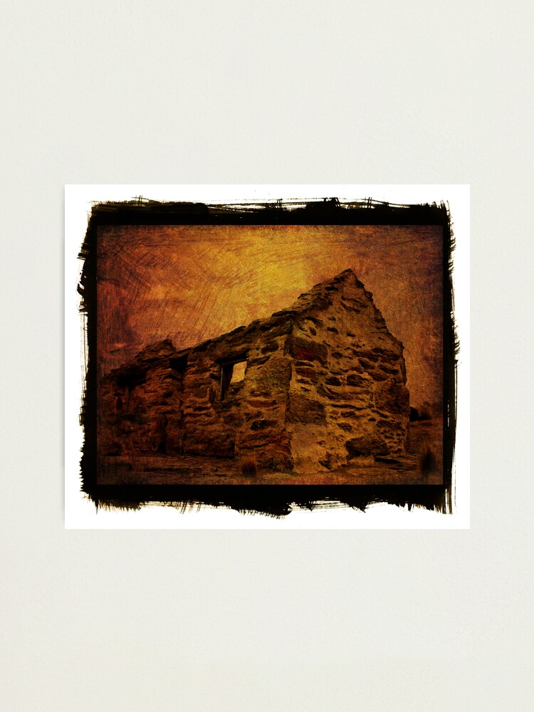 Alternate view of stone house Photographic Print