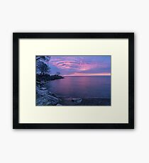 Silk and Satin in Sapphire and Fuchsia  Framed Print