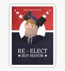 Re-Elect Boy Mayor! Sticker