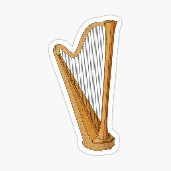 Harp for the Harpist Sticker