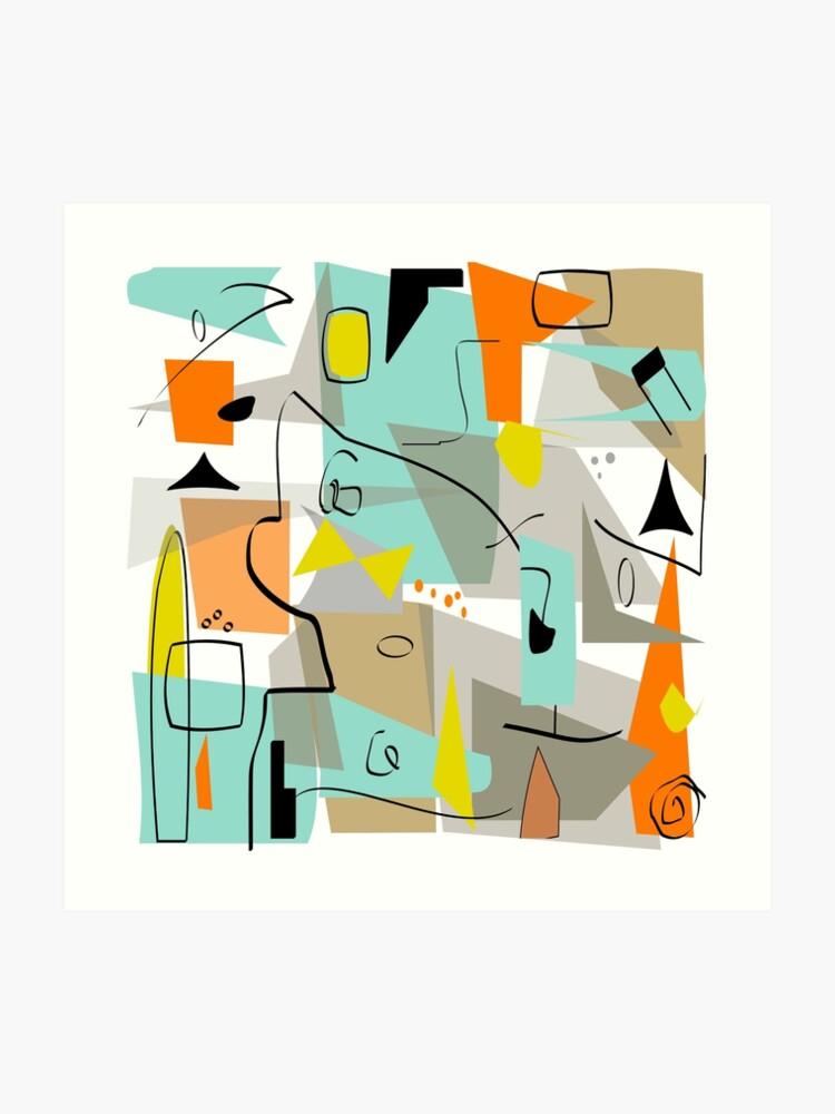 Modern Rectangle Abstract Art