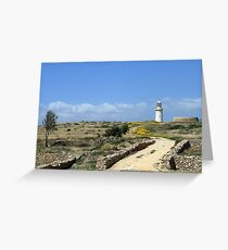Lighthouse in Paphos Greeting Card