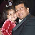 Alyna with Uncle M by Mahjabeen Mankani