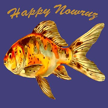 Elegant Happy Nowruz Goldfish Persian New Year by taiche
