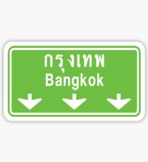 Bangkok Ahead ~ Watch Out! Thailand Traffic Sign Sticker