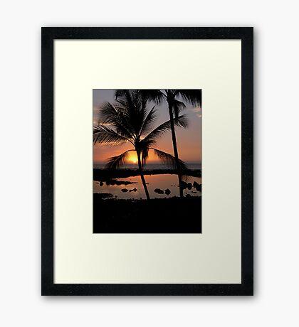 Kona Sunset Framed Print
