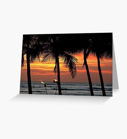 Waikiki Sunset Greeting Card