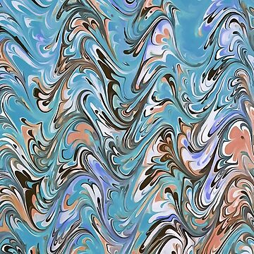 Marbling Abstract In Blue by taiche