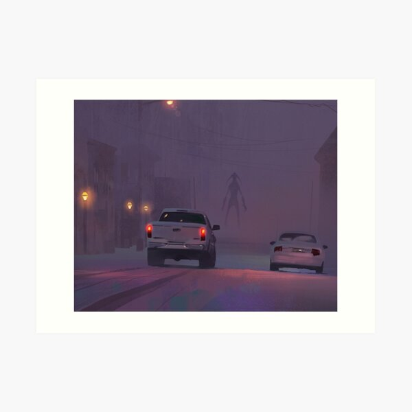 Horror in the snow Art Print