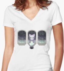 Mystic Miku   Crystal Ball & Zodiac   Light Grey Fitted V-Neck T-Shirt