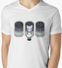 Mystic Miku   Crystal Ball & Zodiac   Light Grey V-Neck T-Shirt