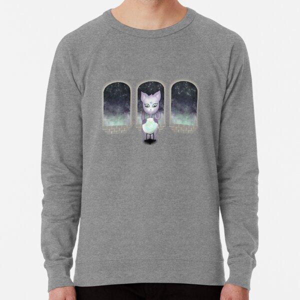Mystic Miku | Crystal Ball & Zodiac | Light Grey Lightweight Sweatshirt