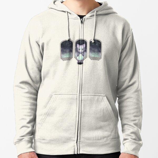 Mystic Miku   Crystal Ball & Zodiac   Light Grey Zipped Hoodie