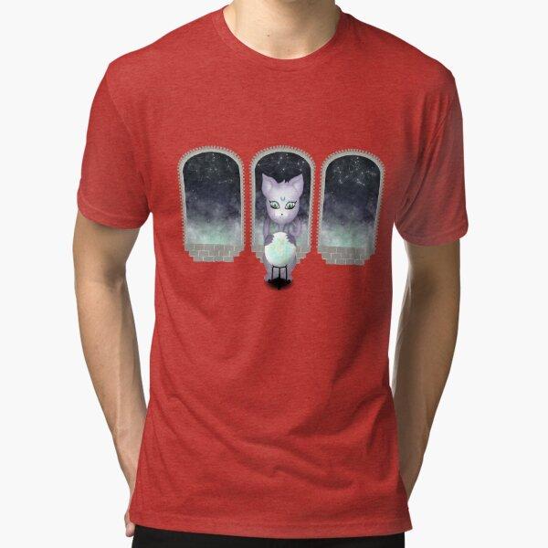 Mystic Miku | Crystal Ball & Zodiac | Light Grey Tri-blend T-Shirt