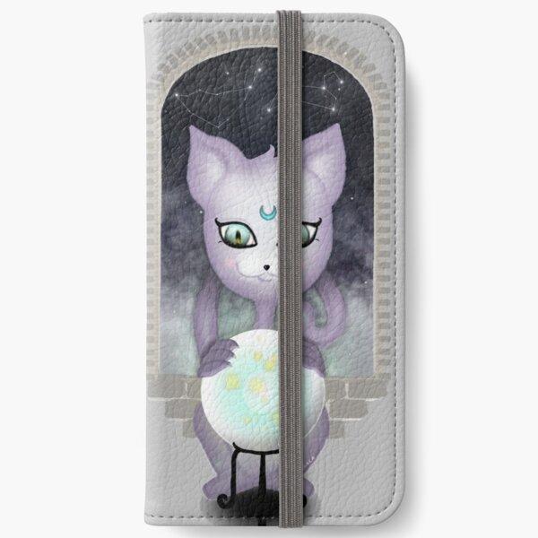 Mystic Miku | Crystal Ball & Zodiac | Light Grey iPhone Wallet