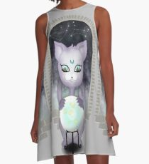 Mystic Miku | Crystal Ball & Zodiac | Light Grey A-Line Dress