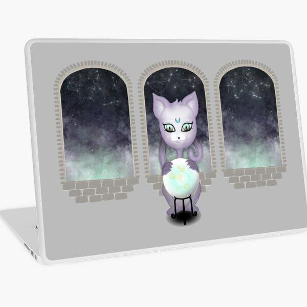 Mystic Miku | Crystal Ball & Zodiac | Light Grey Laptop Skin