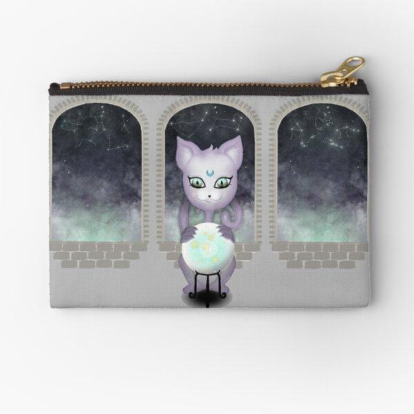 Mystic Miku   Crystal Ball & Zodiac   Light Grey Zipper Pouch