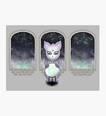 Mystic Miku | Crystal Ball & Zodiac | Light Grey Photographic Print