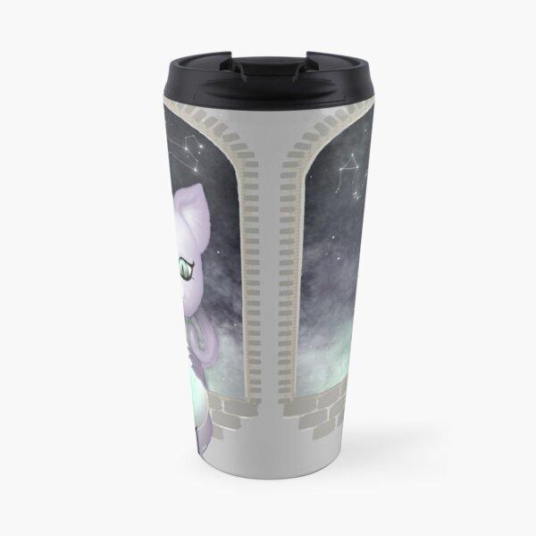 Mystic Miku | Crystal Ball & Zodiac | Light Grey Travel Mug
