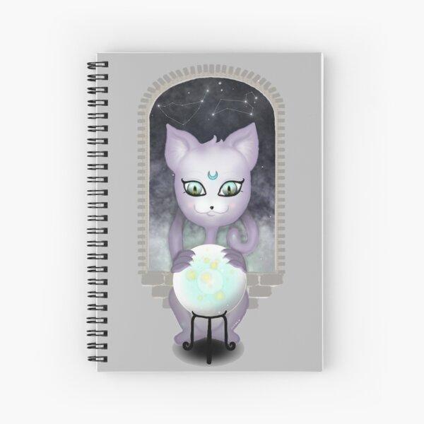 Mystic Miku | Crystal Ball & Zodiac | Light Grey Spiral Notebook