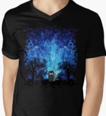 lonely phone booth Men's V-Neck T-Shirt