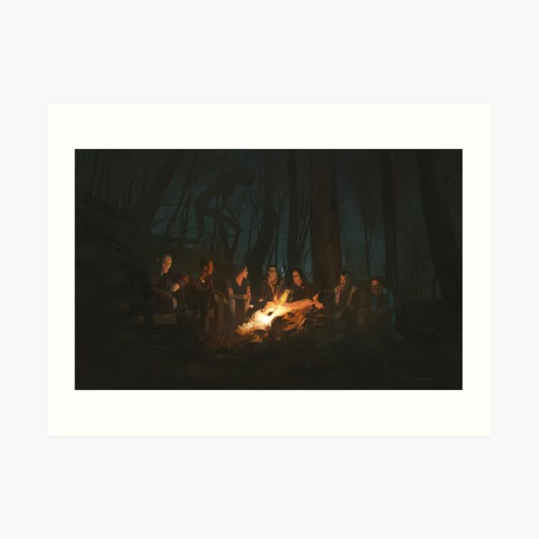 Something in the dark forest Art Print