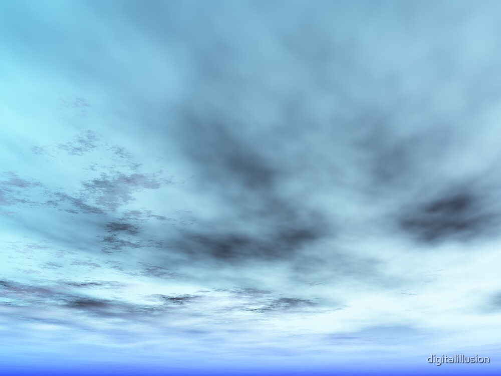 Blue sky with clouds by digitalillusion