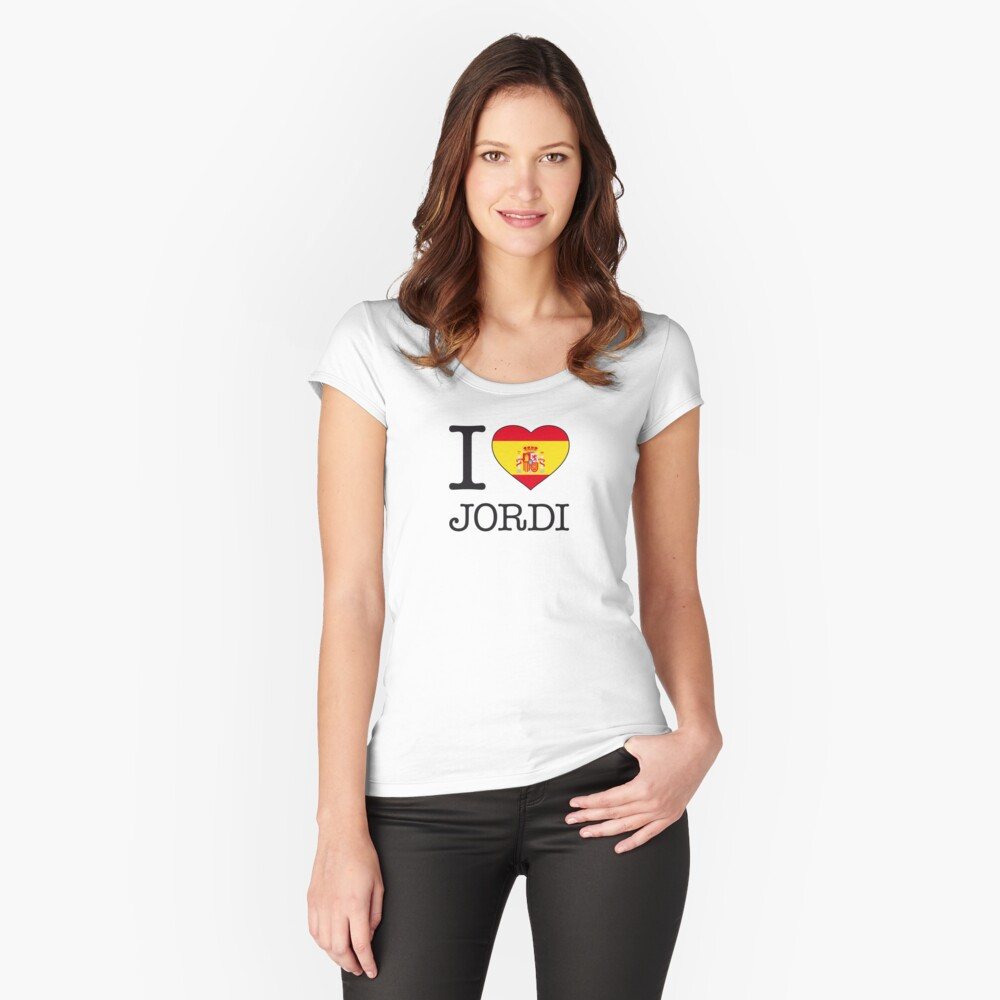 I ♥ JORDI Women's Fitted Scoop T-Shirt Front