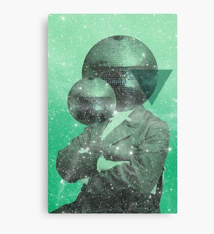 Color Chaos Collection -- Green Universe Canvas Print