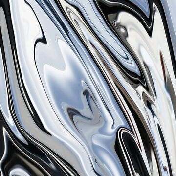 Grey and Black Metal Marbling Effect Abstract by taiche