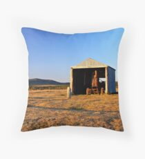 Rusted Tractor Throw Pillow